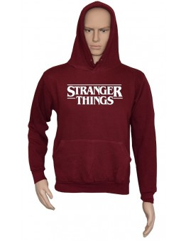 Felpa con cappuccio Bordeaux Stranger Things serie tv