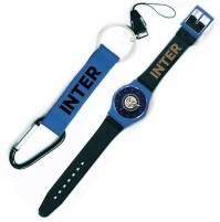 Orologio polso Inter e moschettone ufficiali