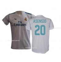 Maglia Real Madrid Asensio 20 ufficiale replica 2017-18 autorizzata