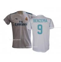Maglia Real Madrid Benzema 9 ufficiale replica 2017-18 autorizzata