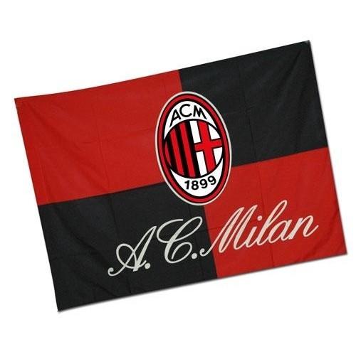 Bandiera Milan 170x170 cm