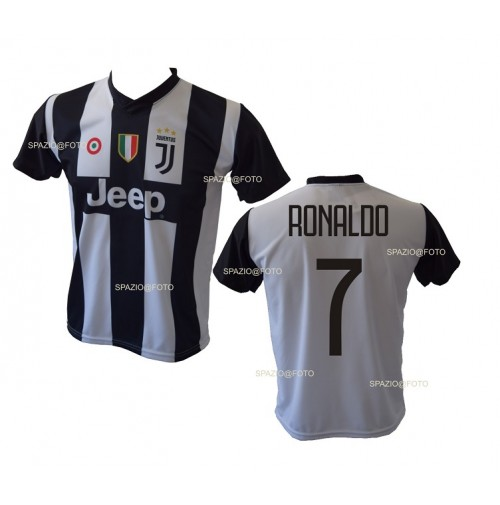Completo Real Madrid Cristiano Ronaldo 7 Replica Autorizzata Ufficiale Bambino Adulto 2017-2018