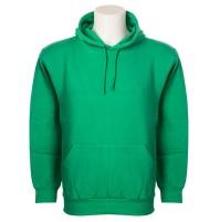 Felpa uomo con cappuccio verde